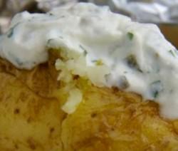 Gepofte aardappelen bbq