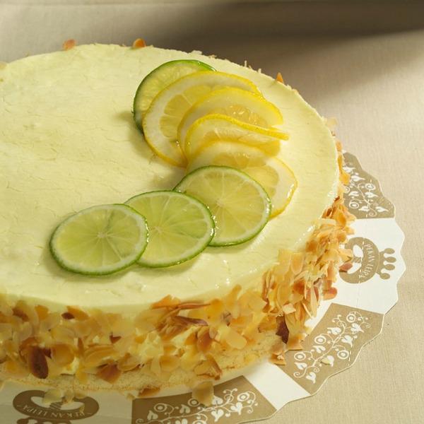 taart met limoen